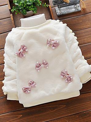povoljno Kompletići za bebe-Dijete Djevojčice Osnovni Bijela / Crvena Jednobojni / Print Mašna Dugih rukava Trenirka s kapuljačom Obala