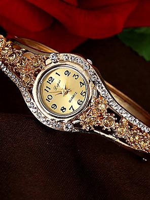 cheap Bracelet Watches-Women's Bracelet Watch Quartz Vintage Style Stylish Luxury Casual Watch Analog White Purple Pink / One Year / Imitation Diamond / One Year