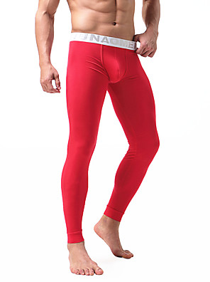 cheap Men's Exotic Underwear-Men's Normal Modal / Spandex Sexy Long Johns Solid Colored Mid Waist / Fall / Winter / 1 Piece