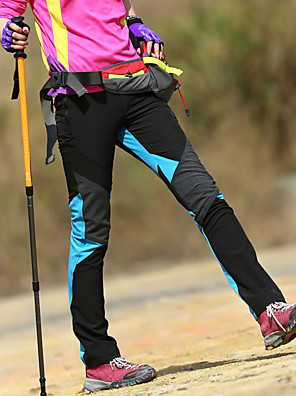 cheap Hiking Trousers & Shorts-Women's Hiking Pants Softshell Pants Winter Outdoor Waterproof Windproof Fleece Lining Breathable Fleece Softshell Pants / Trousers Bottoms Light Blue Red Blue Lilac Rose Red Camping / Hiking Hunting