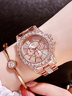 cheap Quartz Watches-Women's Luxury Watches Diamond Watch Gold Watch Quartz Ladies Stainless Steel Silver / Gold / Rose Gold Analog - Rose Gold Gold Silver / Japanese / Japanese