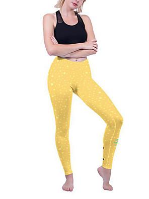 cheap Gymnastics-Women's High Waist Yoga Pants Leggings Butt Lift Breathable Quick Dry Yellow Nylon Spandex Running Dance Fitness Sports Activewear High Elasticity Skinny