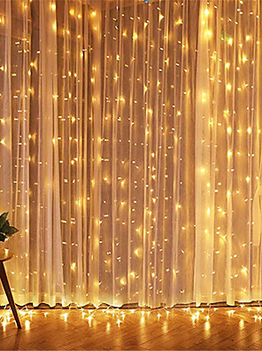cheap Prom Dresses-1pcs 3*3m Led Icicle Led Curtain Fairy StringLlight Fairy Light 300 led Christmas Light for Wedding Home Window Party Decor