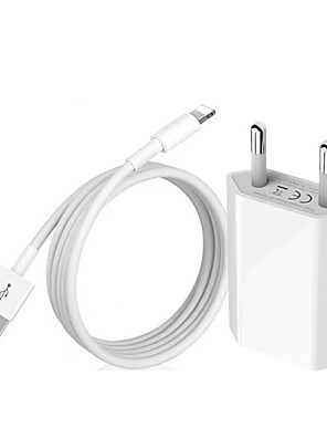cheap Charger Kit-1m USB Cable  EU Plug USB Charger For iPhone 7 8 Plus X XR XS Max 11 Pro Max 5S 6S 6 USB Data Charging Cable EU Travel Wall Charger