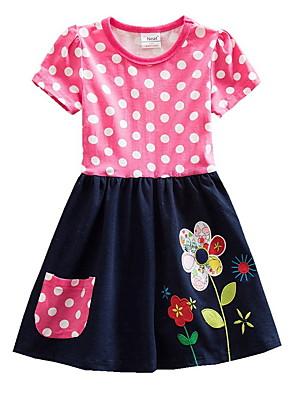 cheap Girls' Dresses-Kids Girls' Floral Dress Fuchsia