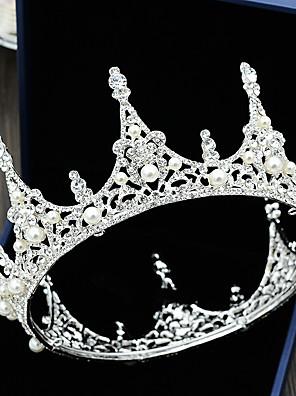 cheap Bridesmaid Dresses-Rhinestone / Alloy Tiaras with Rhinestone / Pearl 1 Piece Wedding Headpiece