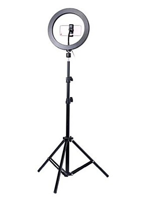 cheap Quartz Watches-Photography led self timer ring light 26cm metal dimmable photography / mobile phone ring light with 110 / 160cm tripod for makeup video studio