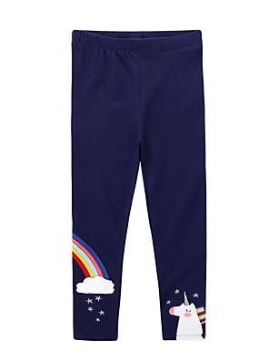 billige Bukser og leggings til piger-Børn Pige Trykt mønster Bukser Navyblå