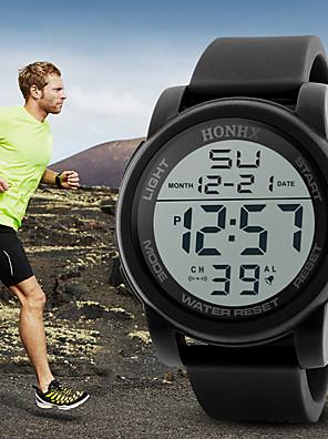 cheap Smart Watches-Men's Sport Watch Digital Sporty Outdoor Water Resistant / Waterproof Silicone Black / Blue / Green Digital - Black Blue Green / Stainless Steel / Noctilucent / Large Dial