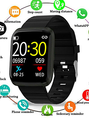 cheap Smart Watches-Couple's Smartwatch Digital Stylish Casual Water Resistant / Waterproof Silicone Black / Blue / Red Digital - Black Red Blue One Year Battery Life