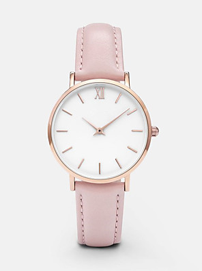 cheap Quartz Watches-Women's Quartz Watches Quartz Classic Chronograph Analog White Black Blushing Pink / PU Leather