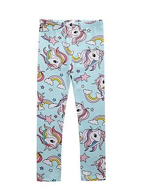 billige Bukser og leggings til piger-Børn Pige Trykt mønster Bukser Blå
