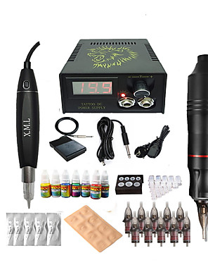 cheap Bridesmaid Dresses-BaseKey Tattoo Machine Starter Kit - 2 pcs Tattoo Machines with 7 x 5 ml tattoo inks, Professional, New Aluminum Alloy LED power supply Case Not Included 18 W Tattoo Pen