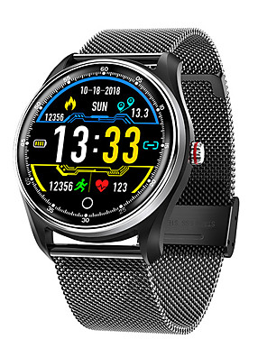 cheap Smart Watches-Smartwatch Digital Modern Style Sporty Genuine Leather 30 m Water Resistant / Waterproof Heart Rate Monitor Bluetooth Digital Casual Outdoor - Black Brown Black / Silver