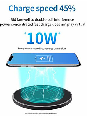 cheap Wireless Chargers-10W Fast Wireless Charger For Samsung Galaxy S10 S9/S9 S8 Note 9 USB Qi Charging Pad for iPhone 11 Pro XS Max XR X 8 Plus