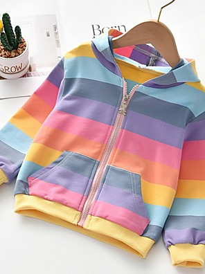 cheap Girls' Dresses-Kids Girls' Basic Striped Long Sleeve Blouse Light Blue