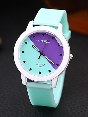 cheap Sport Watches-Men and Women Sport Watch Quartz New Arrival Chronograph Silicone White / Blue / Pink Analog - White Blue Purple One Year Battery Life