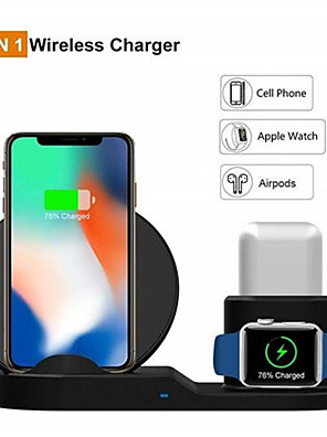 cheap Wireless Chargers-10W Qi Wireless Charger For Iphone X XS XR 8 Plus 11 Pro Max 3 IN 1 Fast Chargeur Quick Charge For Apple Watch Airpods 4 3 2 1 Cargador Inalambrico
