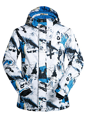 cheap Party Dresses-MUTUSNOW Men's Ski Jacket Skiing Snowboarding Winter Sports Waterproof Windproof Warm Polyester Jacket Ski Wear