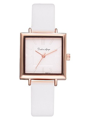 cheap Quartz Watches-Women's Quartz Watches Quartz Modern Style Stylish Casual Casual Watch PU Leather Black / White / Brown Analog - White Black Blue One Year Battery Life / Jinli 377