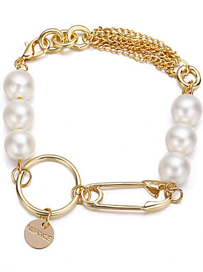 cheap Quartz Watches-Women's Vintage Bracelet Earrings / Bracelet Pendant Bracelet Classic Lucky Classic Trendy Fashion Cute Elegant Imitation Pearl Bracelet Jewelry Gold For Gift Daily School Holiday Festival