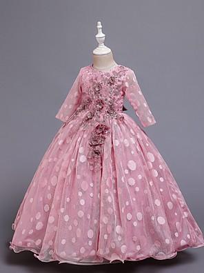 cheap Girls' Dresses-Kids Girls' Polka Dot Dress Wine