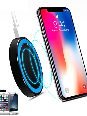 cheap Wireless Chargers-Universal Small Thin Round Wireless Charger For QI Standard Mobiles Wireless Charging