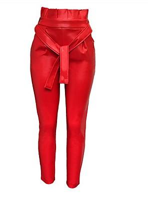 cheap Women's Dresses-Women's Basic Jogger Pants - Solid Colored Black Red M / L / XL