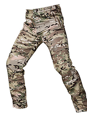 cheap Hiking Trousers & Shorts-Men's Camouflage Hunting Pants Windproof Sunscreen Wearproof Comfortable Spring Summer Fall Camo / Camouflage for Camouflage S M L XL XXL / Winter