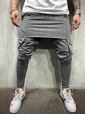 cheap Women's Pants-Men's Sporty wfh Sweatpants Pants - Solid Colored Black Army Green Gray US32 / UK32 / EU40 US34 / UK34 / EU42 US36 / UK36 / EU44