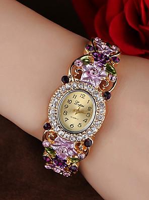 cheap Bracelet Watches-Women's Bracelet Watch Quartz Stylish Glitter Casual Casual Watch Analog Blue Purple Blushing Pink / One Year / Imitation Diamond / One Year