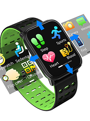 cheap Smart Watches-Smartwatch Digital Modern Style Sporty PU Leather 30 m Water Resistant / Waterproof Heart Rate Monitor Bluetooth Digital Casual Outdoor - Black Black / Blue Black / Green