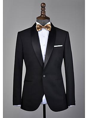 cheap Custom Tuxedo-Black shawl lapel wool custom tuxedo