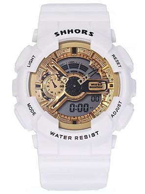 cheap Quartz Watches-Women's Digital Watch Digital Stylish Casual LCD Silicone Black / White Digital - Golden+Black Golden+White Silver / Black One Year Battery Life / Jinli 377