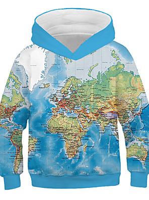 cheap Girls' Dresses-Kids Boys' Basic 3D Long Sleeve Hoodie & Sweatshirt Blue