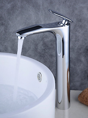 cheap Wedding Dresses-Bathroom Sink Faucet - Standard Electroplated / Black Free Standing Single Handle One HoleBath Taps