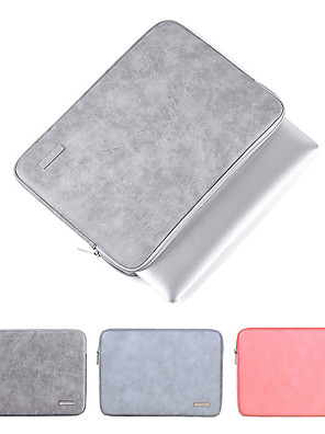 cheap Mac Accessories-2019 Waterproof PU Leather Laptop Sleeve Case For Macbook Pro Air 13 14 15 inch Notebook Computer PC Cover Pouch for Dell HP