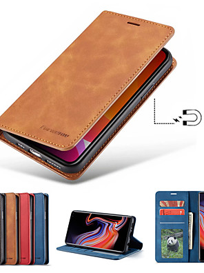 cheap iPhone Screen Protectors-Forwenw Leather Case For iPhone 11/11Pro/11ProMax/X/XS/XR/XSmax/8P/8/7P/7/6P/6 Wallet / Card Holder / Shockproof Full Body Cases Solid Colored PU Leather / TPU