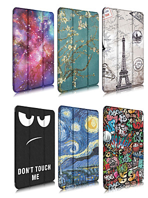 cheap iPad case-Case For Apple iPad 4/3/2 / iPad Mini 4 / iPad Pro 11'' Origami Full Body Cases Scenery / Cartoon PU Leather