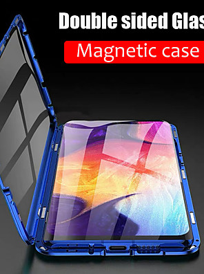cheap Boys' Tops-Magnetic Double Sided Glass Case For Samsung Galaxy S9 / S9 Plus / S8 Plus 360 Protection Metal Magnet Adsorption Protective Case