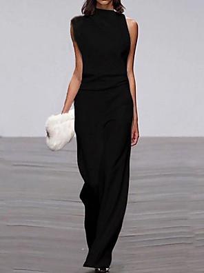 cheap Bridesmaid Dresses-Women's Wine White Black Jumpsuit Onesie, Solid Colored S M L