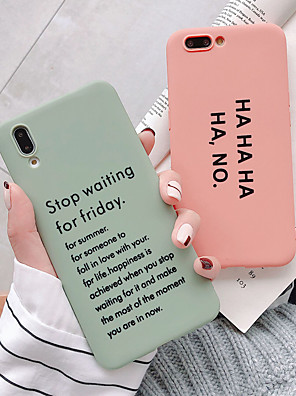 cheap Huawei Case-Case For Huawei Huawei Nova 4 /P20 /P20 Pro /p30pro/p30/mate20/mate20pro/mate10/honor20/Nova3/honor v10 Dustproof / Ultra-thin / Frosted Back Cover Word / Phrase / Solid Colored TPU