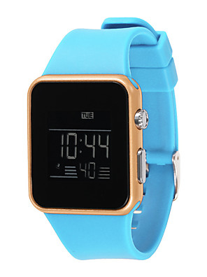 cheap Fashion Watches-Women's Digital Watch Digital New Arrival Water Resistant / Waterproof Silicone Black / White / Pink Digital - White Black Blushing Pink / Chronograph / Noctilucent