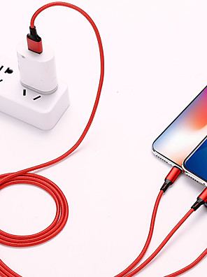 cheap Cell Phone Cables-1.2m 3 in 1 Universal Mobile Phone Charging Data Cable For Type C/Micro/iphone