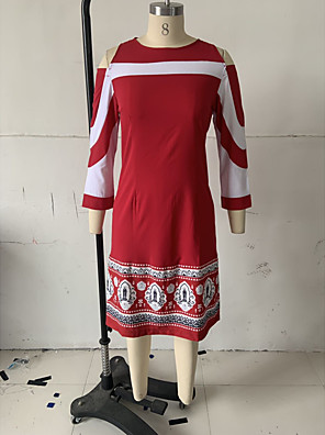 cheap Mini Dresses-Women's Sheath Dress - Short Sleeve Spring & Summer Slim 2020 Black Blue S M L XL XXL XXXL