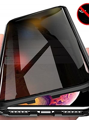 cheap iPhone Cases-Anti Peep Magnetic Case for iPhoneX XS XR Max iPhone11 11Pro 11Pro Max SE2020 Double Sided Magnetic Case Tempered Glass