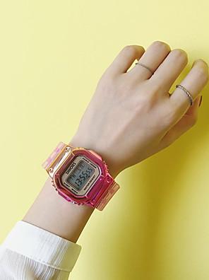 cheap Quartz Watches-Women's Digital Watch Digital Outdoor Chronograph Rubber Blue / Green / Pink Digital - Rose Gold Purple Gold One Year Battery Life / Noctilucent