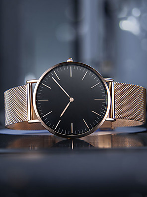 cheap Watches-Men Women Wrist Watch Gold Watch Quartz Stainless Steel Black / Silver / Gold Casual Watch Analog Ladies Casual Fashion Minimalist - Black Rose Gold Gold / White One Year Battery Life
