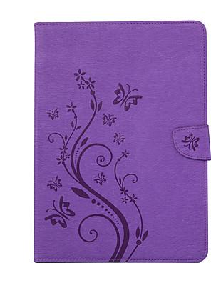 cheap iPad case-Case For Apple iPad 4/3/2 / iPad Mini 4 Card Holder Back Cover Flower PC