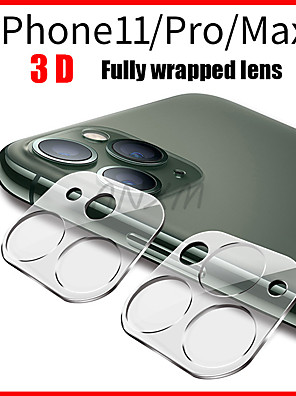 cheap iPhone Screen Protectors-1Pcs Fully Transparent Film For iPhone 11 3D Full Cover Back Camera Lens Screen Protector for iPhone 11 Pro Max Tempered Glass Case